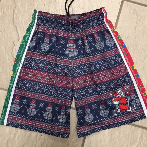 9b79802ee40 Lacrosse Unlimited Other - Lacrosse Unlimited boys Santa shorts youth medium